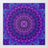 Harmony In Purple Canvas Print