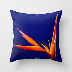 Flower orange blue 7 Throw Pillow