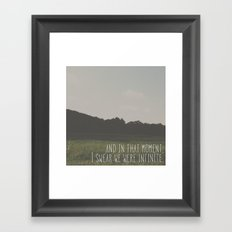 Wallflower.  Framed Art Print