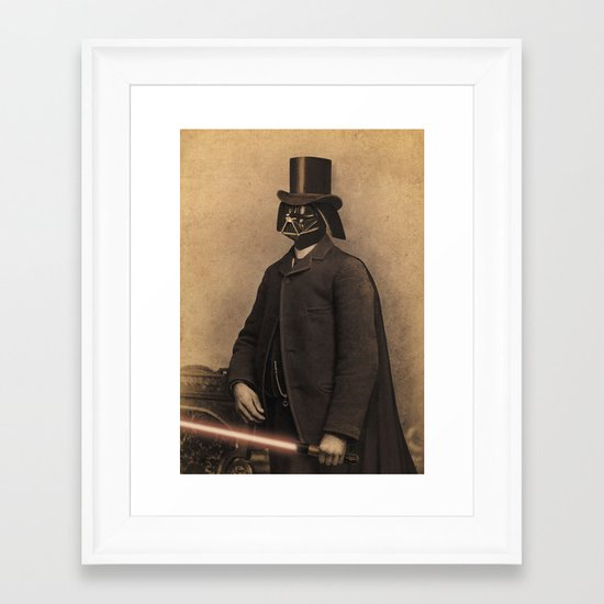 Lord Vadersworth Framed Art Print