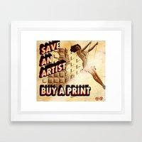 Shameless Self Promotion #1 Framed Art Print