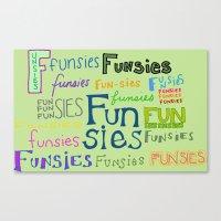 Funsies, 2 Canvas Print