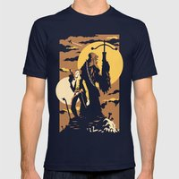 The Scoundrel & The Wookie Mens Fitted Tee Navy SMALL