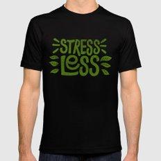 Stress Less MEDIUM Black Mens Fitted Tee