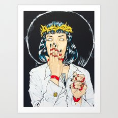 Mother Mia (Mia Wallace) Art Print