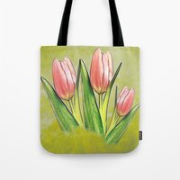 Tulips red Tote Bag