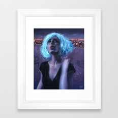 the magic wig Framed Art Print