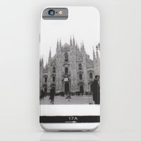iPhone Cases featuring Milan in Black & White by FranArt