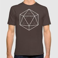 Icosahedron Pattern Brig… Mens Fitted Tee Brown SMALL