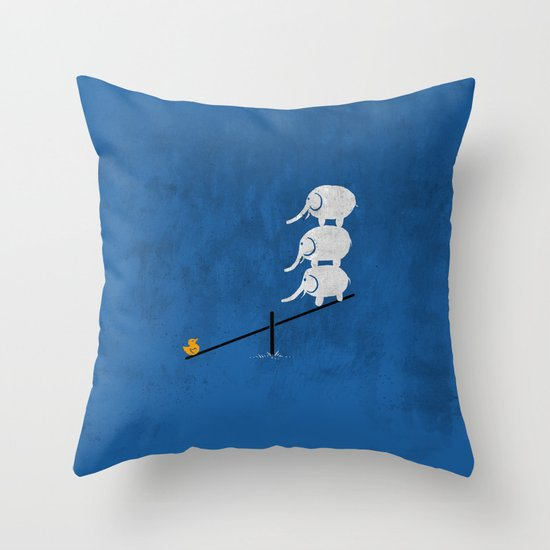 No balance Throw Pillow