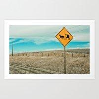 Yup, You're In Rural Montana Art Print