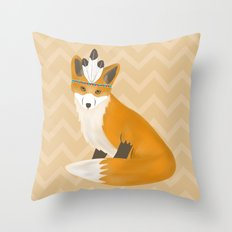 Be Brave - Fox Native Throw Pillow