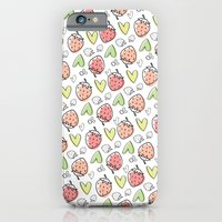 Pattern: Strawberries & Hearts iPhone 6 Slim Case