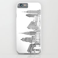 NYC Landmarks by the Downtown Doodler iPhone 6 Slim Case