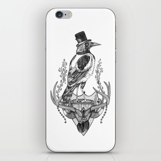 Mr. Magpie iPhone & iPod Skin