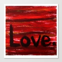 LOVE By KPD (Stretched) Canvas Print