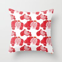 Pome and Holly Throw Pillow