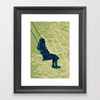 The Swing (high Up) Framed Art Print