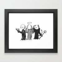 Crap Framed Art Print