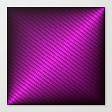 Purple Oblique Stripes Canvas Print