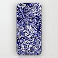 Modern Navy Blue Indigo … iPhone & iPod Skin