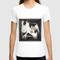 cow T-shirts featuring cow by woman