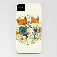 iPhone 4s & iPhone 4 Cases featuring Fox Friends by Teagan White