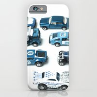 iPhone & iPod Case featuring Its A Parking Lot Out There... Blue by Jean Ladzinski