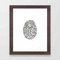 YA FEEL ME? Framed Art Print