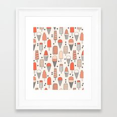 Ice Cream Season Framed Art Print