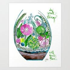 Small Things Terrarium Art Print