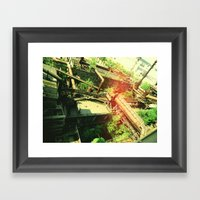 Factory V2 Framed Art Print