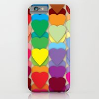 Colored Hearts iPhone 6 Slim Case