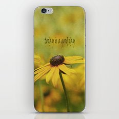 Good Day with Yellow Coneflower iPhone & iPod Skin