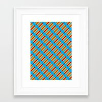 Pixel Hot Dogs Framed Art Print