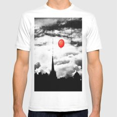 Gotham city SMALL White Mens Fitted Tee