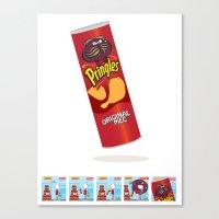 Mec Pringles! Canvas Print
