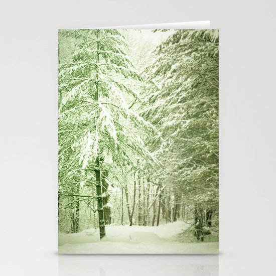 Winter Pine Trees Stationery Card