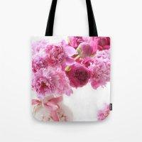 Romantic Pink And Red Pe… Tote Bag