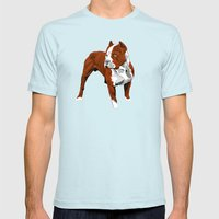 Pitbull Mens Fitted Tee Light Blue SMALL