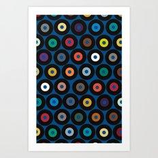 VINYL blue Art Print