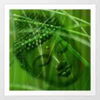 Buddha Illustration 55 Art Print