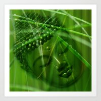 Buddha Illustration 55 Art Print