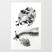 Blackbirds Art Print