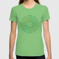 LOVE Womens Fitted Tee Grass SMALL