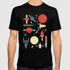 Space Odyssey Mens Fitted Tee Black SMALL