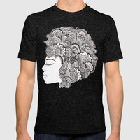 Her Hair Mens Fitted Tee Tri-Black SMALL
