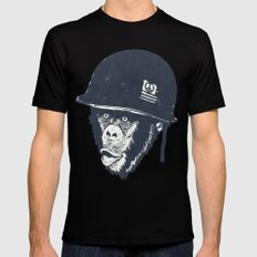 Monkey mania SMALL Mens Fitted Tee Black