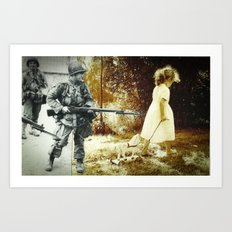 Hands tied from birth Art Print