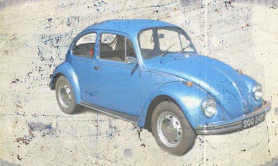 BLUE VW Art Print